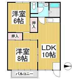 コーポヤマセ[1階]の間取り