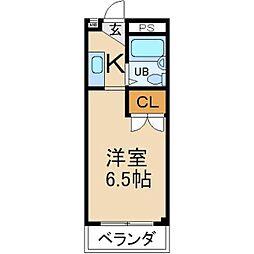 大阪府枚方市出口3丁目の賃貸アパートの間取り