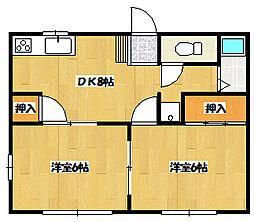 レスコモトヤシキ[1−A号室]の間取り