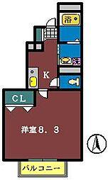 アスピリアdesPaix[1階]の間取り