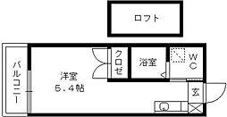 蔵ハウス[201号室]の間取り