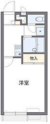西武新宿線 狭山市駅 バス15分 土橋下車 徒歩4分の賃貸アパート 2階1Kの間取り
