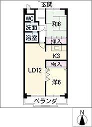 トゥインクル・ツイン桃山[2階]の間取り
