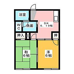 コーポ新屋[2階]の間取り