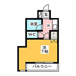 キーイースト[3階]の間取り