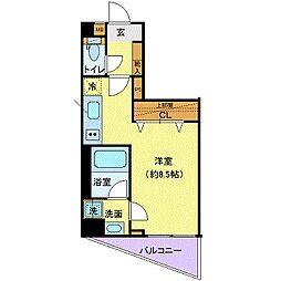 東武東上線 ときわ台駅 徒歩7分の賃貸マンション 3階ワンルームの間取り