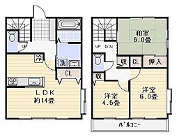 [テラスハウス] 神奈川県逗子市小坪3丁目 の賃貸【神奈川県 / 逗子市】の間取り