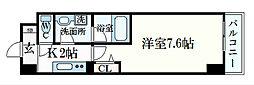 JR東海道・山陽本線 摂津本山駅 徒歩8分の賃貸マンション 3階1Kの間取り