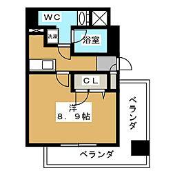 アドバンス京都四条堀川ノーブル[1階]の間取り