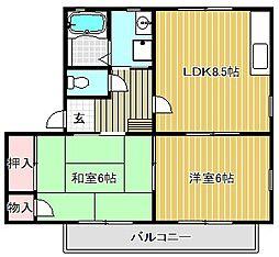 メゾン・ド・プリューム[2階]の間取り