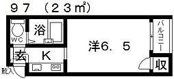 ラ・コート喜志[A404号室号室]の間取り