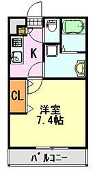 LiVLi・長洲[103号室]の間取り