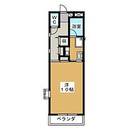 メルベーユ瑞雲[2階]の間取り