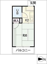 フォーブル沖田[2階]の間取り