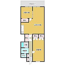 チサンマンション[305号室]の間取り