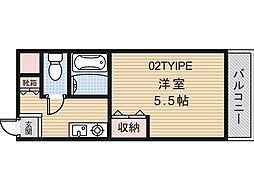 アミティカジュアル[2階]の間取り