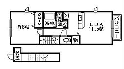 エスプワール[2階]の間取り