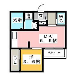 スマイラックス博多駅東[2階]の間取り