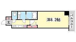 兵庫県神戸市中央区中町通4丁目の賃貸マンションの間取り