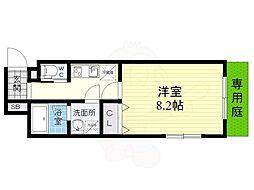 JR東海道・山陽本線 須磨駅 徒歩7分の賃貸アパート 1階1Kの間取り