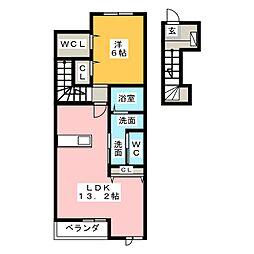 クラージュ A棟[2階]の間取り