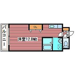 第6トーホービル[4階]の間取り