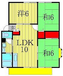 サンヴィレッジ松島 F[2階]の間取り