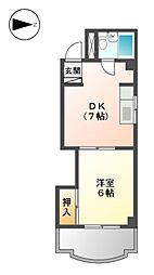 チサンマンション徳川町[1階]の間取り