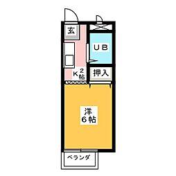 第2サンシティ山田[2階]の間取り