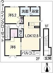 ポラリス B棟[2階]の間取り