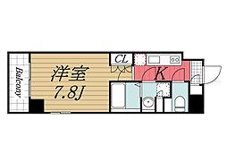JR総武線 千葉駅 徒歩5分の賃貸マンション 6階1Kの間取り