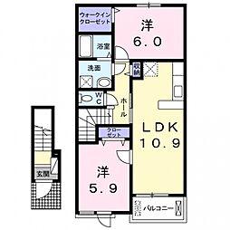 グランアンジュ2[2階]の間取り