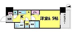 レジュールアッシュ京橋CROSSII[2階]の間取り