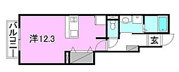 ブルームンAB棟[A103 号室号室]の間取り