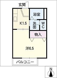 ジュネス緑ヶ丘B棟[1階]の間取り