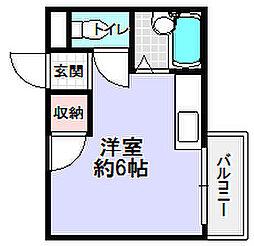大阪府枚方市長尾元町1丁目の賃貸マンションの間取り