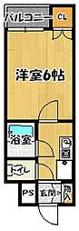 RX富田林[3階]の間取り