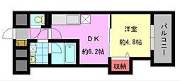 デザイナープリンセス中津口[4階]の間取り