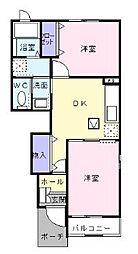 ベル コリーヌ[2階]の間取り