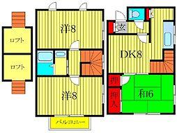 [テラスハウス] 千葉県柏市北柏4丁目 の賃貸【/】の間取り