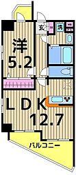 ソフィアコート扇 4階1LDKの間取り