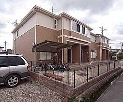 京都府木津川市吐師野間の賃貸アパートの外観