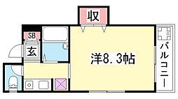 INK熊内パーク[304号室]の間取り