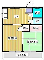 中山ハイツ[1階]の間取り