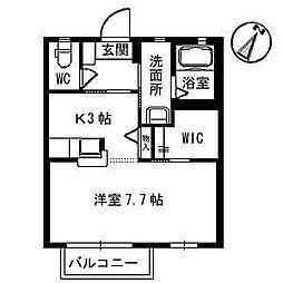 シャーメゾンI・T[202号室]の間取り