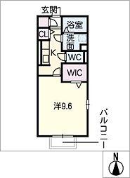 コンフォルト鵜沼[1階]の間取り