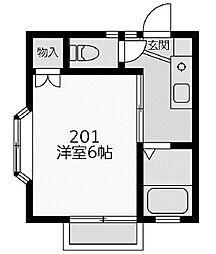 ハイツベルヴュー[2階]の間取り