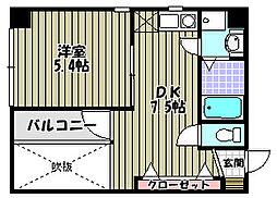 ハイネスセンターコート[3階]の間取り