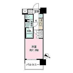 ザ・パークハビオ目黒 11階1Kの間取り