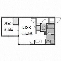 シティコート豊平[4階]の間取り